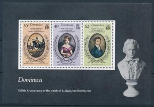 [95068] Dominica 1977 Music Beethoven Sheet MNH