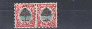 SOUTH AFRICA  1938 - 48    S G 61C  6D  GREEN  & VERMILLION   MH