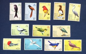 BRITISH INDIAN OCEAN TERRITORY - # 63 // 77 -  FVF MNH see note - Birds - 1975