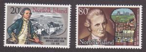Norfolk Isl. # 240-241, Capt. Cook, Mint NH, 1/2 Cat.