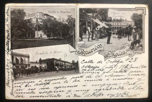1920s Mexico City Mexico postcard cover To London England Mexican Greetings