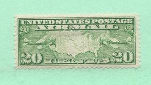 United States, C9,Map/Two Mail Planes VF Single,**Hinged**#1