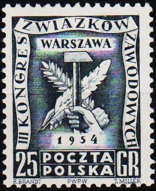 Poland. 1954 25g S.G.854 Unmounted Mint
