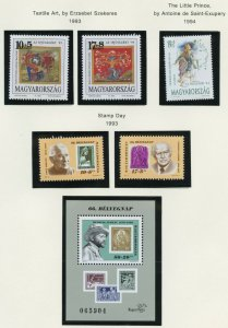 HUNGARY SELECTION OF 1993 ISSUES MINT NEVER HINGED AS SHOWN