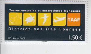 2019 FSAT Fr Antarctic Scattered Logo (Scott 617) MNH