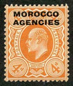 Morocco Agencies SG35 1907 4d pale orange U/M