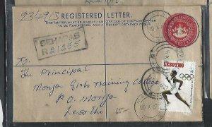 LESOTHO  (PP0310B) 1972 10C  RLE+ 4C OLYMPICS SEHAPAS TO MORIJA