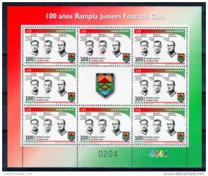 SOCCER WORLD CUP CHAMPION 1930 & 1950 URUGUAY FOOTBOLLER LEGENDS MNH sheetlet