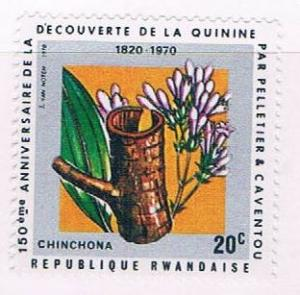 Rwanda 367 MNH Flower and bark 1970 (R0548)