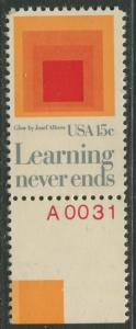 USA - Scott 1833 - Education -1980- MLH - Single 15c Stamp with Label