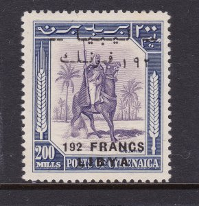 Libya an early 192Fr on 200m overprint MNG