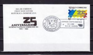 Dominican Rep., Scott cat. C309. Philatelic Society issue. First Day cover