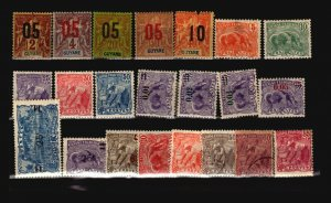 French Guiana 22 Mostly Mint, with faults - C1958
