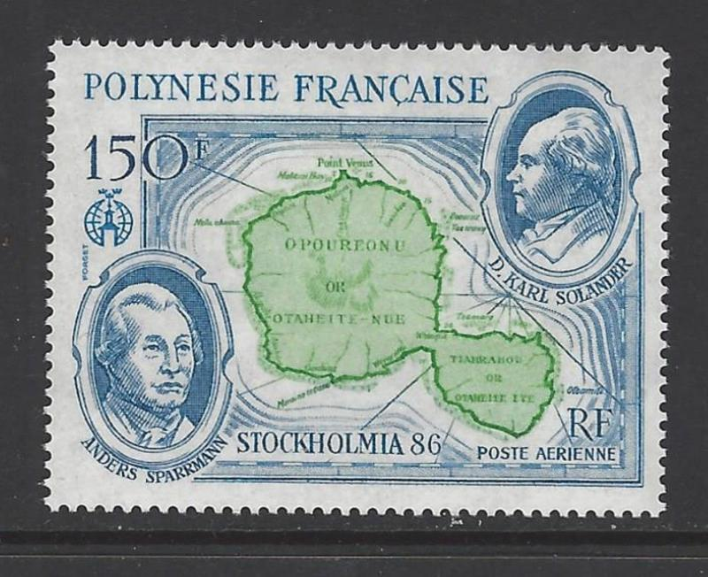 French Polynesia 1986 Stockholmia Map VF MNH (C219)