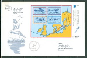FINLAND AVIATION #773...SHEET of 4 on NICE AIR COVER