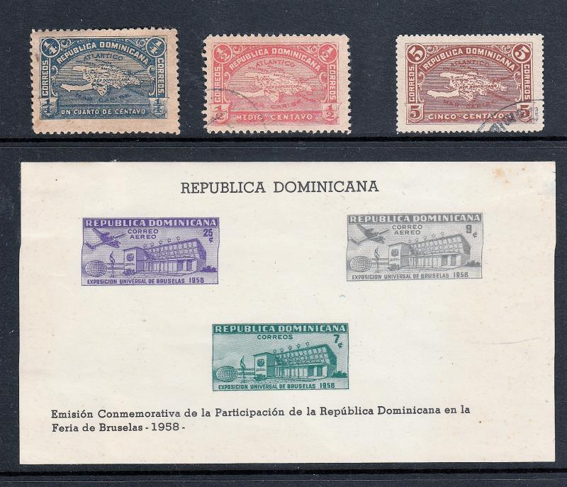 Souvenir Sheet and Stamps of the Dominican Republic