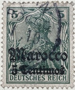 AlexStamps GERMAN OFFICES IN MOROCCO #21 SUPERB Used