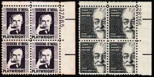 U.S. 1294-1295, $1 & $5 PL# BLOCKS OF FOUR.. MINT, NH. VF (23)