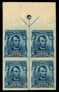 momen: US Stamps #315 Mint OG NH Arrow Block of 4 SUPERB