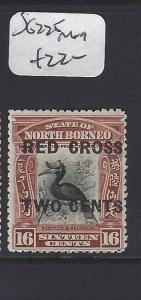 NORTH BORNEO  (PP2811B)   2C/16C RED CROSS BIRD  SG 225   MOG