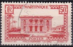 1933 Martinique Scott 148 Government Palace used