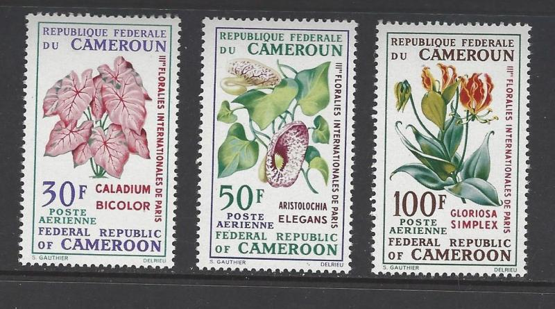 Cameroun 1969 Flowers Plants VF MNH (C119-21)