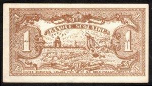 CANADA, QUEBEC 1929 VINTAGE $1. SCHOOL BANK PAPER MONEY, MEMORABILIA CINDERELLA