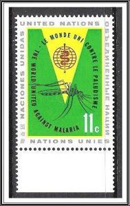 UN New York #103 Malaria Issue MNH