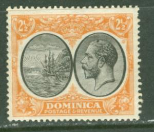 Dominica # 71  2½d. George V - 1923  (1) VF Unused VLH