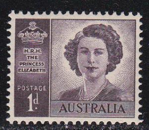 Australia # 215, Princess Elizabeth, Mint NH, 1/2 Cat.
