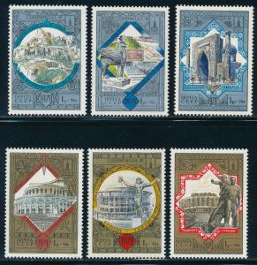 Russia - Moscow Olympic Games MNH Tourism  Set B121-26 (1980)