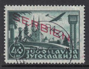 GERMANY - REICH 1941-1945 occ SERBIEN Mi 24 cat 1000$ very fine used