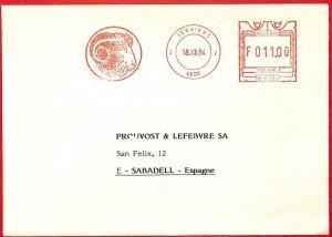 aa3172 - BELGIUM - POSTAL HISTORY - Advertising Postmark 1984 Fauna RAM animals