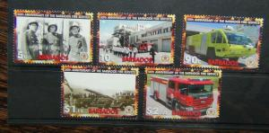 Barbados 2005 50th Anniversary of the Fire Service set MNH
