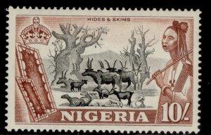 NIGERIA QEII SG79, 10s black & red-brown, M MINT. Cat £24.