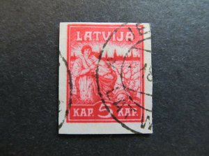 A4P25F7 Latvia Lettonia Lettland 1919 Wmk Honeycomb 5k used
