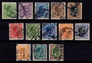 Denmark 1913-28 Christian X Definitives (various) [Used]