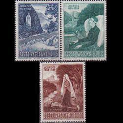 VATICAN 1958 - Scott# 233-5 Virgin Mary 5-15l LH