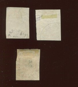 Lot of 3  87L10 Hussey's Post New York  Used  Stamps (Bx 367)