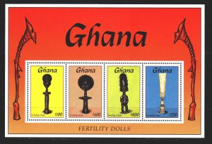 Ghana. 1994. bl265. Ethnography, dolls. MNH.