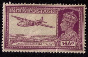 INDIA  Mi 167 UNUSED,MINT HINGED AIRPOST KGV 14As VF