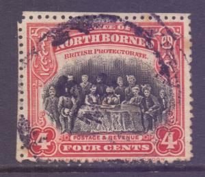 North Borneo Scott 140 - SG164, 1909 Sultan 4c cds used