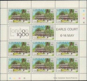 1980 Kiribati #352-355, Complete Set(4), Sheets of 10, Never Hinged