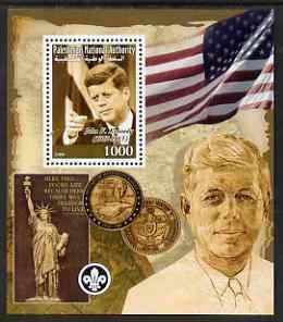 PALESTINIAN N.A. - 2008 - John F Kennedy - Perf Souv Sheet - Mint Never Hinged