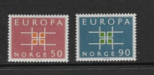NORWAY - EUROPA 1963 - SCOTT 441 TO 442 - MNH