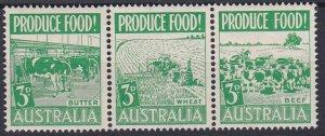Australia Sc #252a MNH Strip of 3