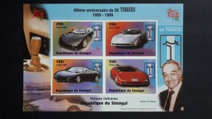 Cars - Tomaso - Senegal 1998. - Sheet imperforated ** MNH