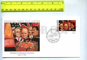 242071 MARSHALL ISLANDS WWII Potsdam Conference Convenes 1995 year FDC