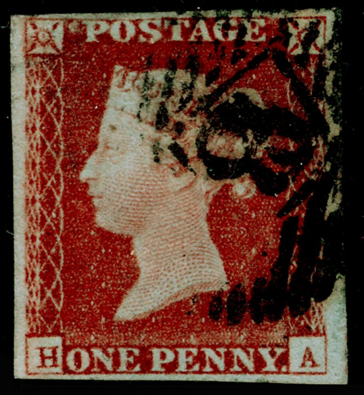 SG8, 1d red-brown PLATE 67, USED. Cat £32. HA
