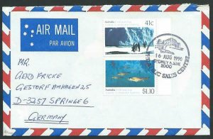 AUSTRALIA 1990 cover to Germany - nice franking - Sydney pictorial pmk.....12801